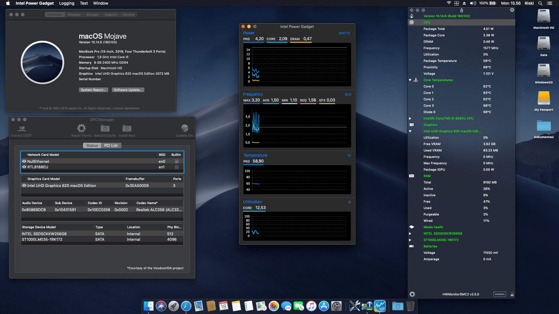 Success Hackintosh macOS Mojave 10.14.6 Build 18G103 at Asus VivoBook S14 S430FN